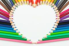 Kierowi kolorów ołówki jako tło Obrazy Royalty Free