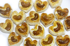 Kierowi kształtów ciastka Fotografia Royalty Free