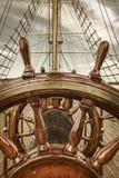 Kierownica żagiel łódź Zdjęcie Royalty Free