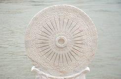 Kierownica kamień rzeźbiący Obrazy Royalty Free