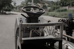 Kierownica rocznika samochód Zdjęcie Stock
