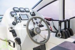 Kierownica statek łodzie motorowa Obraz Royalty Free