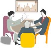 Kierownictwo przy biznesowym spotkaniem ilustracji
