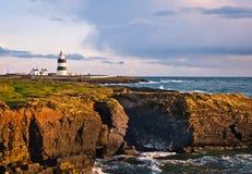 Kierownicza haczyk Latarnia morska, Irlandia zdjęcia stock
