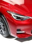 Kierownicza lampa czerwony sporta samochód Obrazy Royalty Free