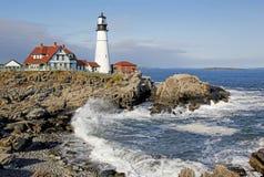 kierownicza latarnia morska Maine Portland Obrazy Stock