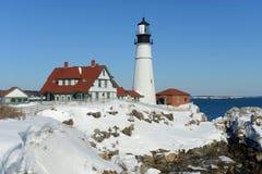 kierownicza latarnia morska Maine Portland Obraz Stock