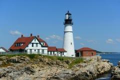 kierownicza latarnia morska Maine Portland Fotografia Stock