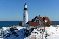 kierownicza latarnia morska Maine Portland Zdjęcia Stock