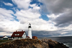 kierownicza latarnia morska Portland Obrazy Royalty Free