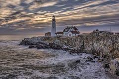 kierownicza lekka latarnia morska Portland obrazy royalty free
