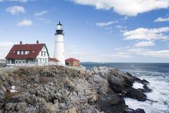 kierownicza lekka latarnia morska Portland Zdjęcia Royalty Free
