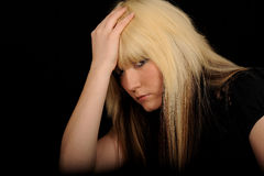 kierowniczego mienia smutna kobieta Zdjęcie Stock