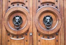 kierowniczy drzwi wilk Zdjęcia Royalty Free