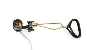 Kierowniczy E27 stroboskopu światło odizolowywający na białym tle zdjęcia royalty free