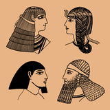 Kierowniczy Egipcjanie Obraz Stock