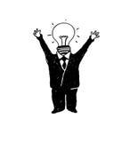 Kierowniczy lampa biznesmen Zdjęcie Stock