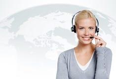 Kierownik centrum telefoniczne Zdjęcia Stock