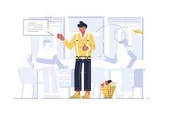 Kierownik w biurze royalty ilustracja