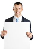 Kierownik wręcza białą papierowej kopii przestrzeń Obrazy Royalty Free