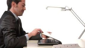 Kierownika dosypianie przy pracą zdjęcie wideo