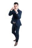Kierownika maklera lub przedsiębiorcy boju pozycja Zdjęcie Stock