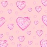 Kierowy atramentu muśnięcia tekstury wektor na różowych tło Zdjęcia Royalty Free