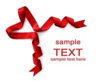 kierowy czerwony tasiemkowy atłasowy kształt zdjęcia stock