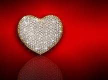 Kierowy diamentowy skład obszyty dzień serc ilustraci s dwa valentine wektor Fotografia Royalty Free