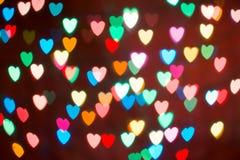 Kierowy kolorowy bokeh tło Walentynki ` s dnia tło Obraz Royalty Free
