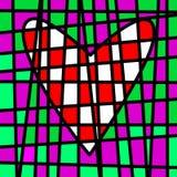 Kierowy kolorowy kafelkowy patchwork Barwiona fabuła ilustracja wektor