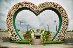 Kierowy kształt dla ślubnej fotografii Obrazy Royalty Free