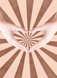 Kierowy kształt robi ręki Obrazy Stock