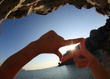 Kierowy kształt robi ręki Fotografia Stock