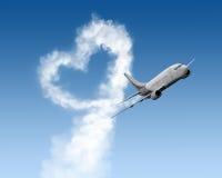 Kierowy kształta ślad od ampuła samolotu fotografia royalty free