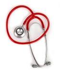 Czerwony stetoskop Obrazy Stock