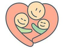 Kierowy kształta uściśnięcie najlepszy dzieci jako ojcostwa związek i ojciec ilustracja wektor