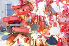 Kierowy kształtny rocznik miłości kędziorek zdjęcie stock