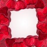 Kierowy kształt czekolady granica Fotografia Stock