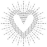 Kierowy kształt na abstrakcjonistycznym promieniuje sunburst Fotografia Stock