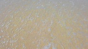 Kierowy kszta?t na piasku kt?ry wyciera? daleko morze fal? zdjęcie wideo