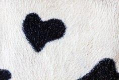 Kierowy kształt na tkaniny teksturze Fotografia Stock