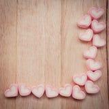 Kierowy kształta marshmallow obraz stock