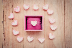 Kierowy kształta marshmallow fotografia stock