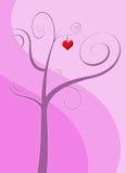 kierowy miłości menchii drzewo Zdjęcie Royalty Free