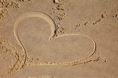 Kierowy rysunek na plaży Zdjęcia Stock