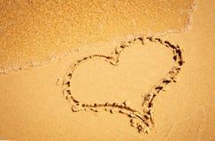 Kierowy rysunek w piasek plaży Fotografia Royalty Free
