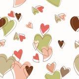 Kierowy słodki miłość dnia wzór ilustracji