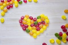 Kierowy symbol robić słodki cukierek Fotografia Stock
