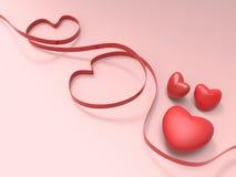 Kierowy walentynka dzień, miłość na Różowym ฺBackground kartka z pozdrowieniami pojęciu i Zdjęcie Royalty Free